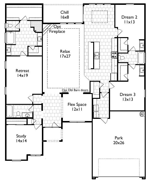Floor Plan Profile Monterey Tile Roof French Brothers